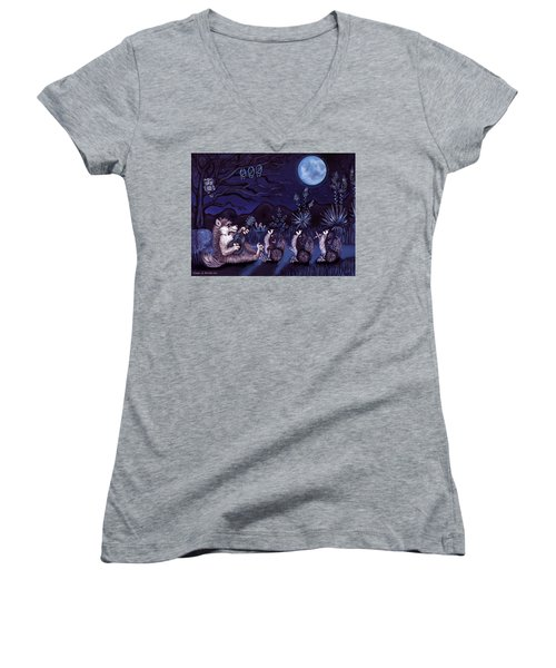 Los Cantantes Or The Singers Women's V-Neck