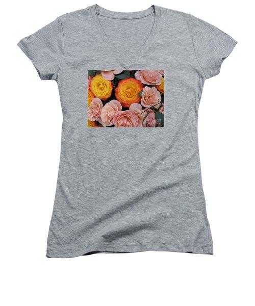 Love Bouquet Women's V-Neck T-Shirt