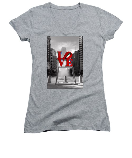 Love Isn't Always Black And White Women's V-Neck (Athletic Fit)