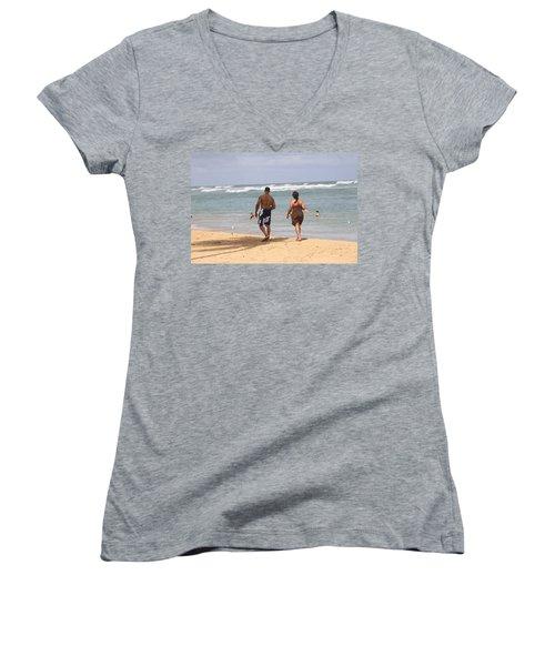 Love Stroll Women's V-Neck T-Shirt
