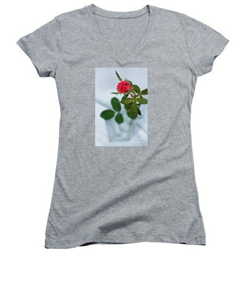 Love Whispers Softly Women's V-Neck T-Shirt (Junior Cut) by Ella Kaye Dickey