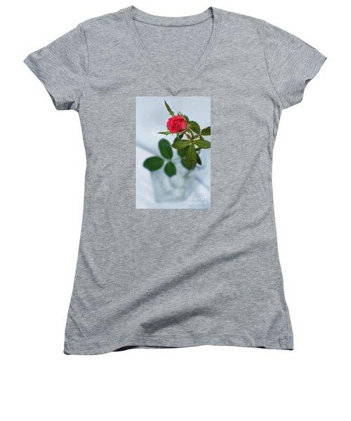 Love Whispers Softly Women's V-Neck T-Shirt (Junior Cut)