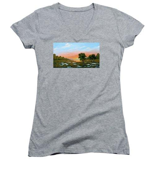 Lowcountry Sunrise Women's V-Neck T-Shirt