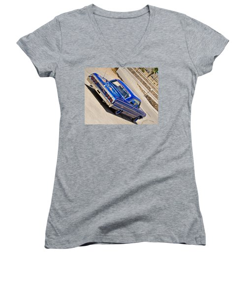 Lowrider_19d Women's V-Neck (Athletic Fit)