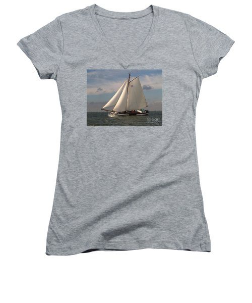 Women's V-Neck featuring the photograph Loyal Winds by Luc Van de Steeg
