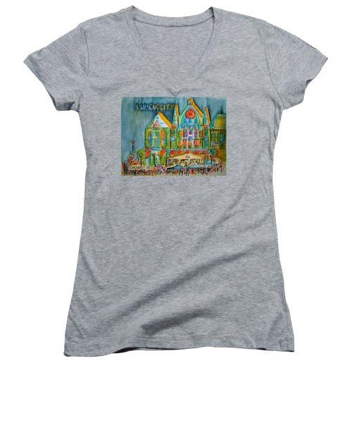 Lumenocity  Women's V-Neck T-Shirt