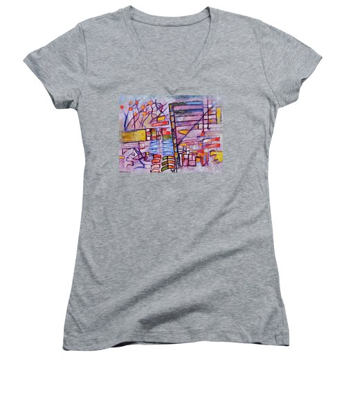Lysergic Descriptions Women's V-Neck T-Shirt (Junior Cut) by Jason Williamson