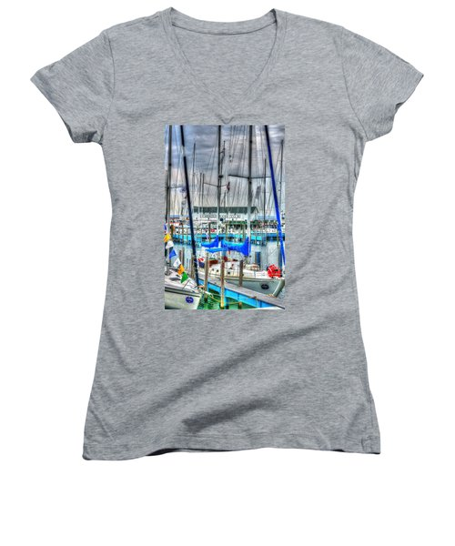 Mackinac Island Harbor Women's V-Neck T-Shirt