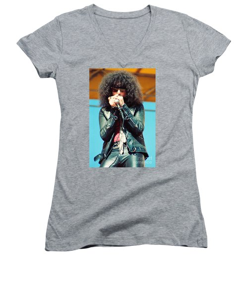 Magic Dick  From J Geils Band - Day On The Green July 4th 1979 Women's V-Neck (Athletic Fit)