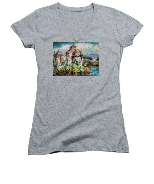 Magical Palace Women's V-Neck T-Shirt