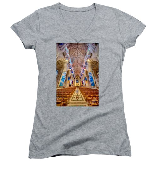 Magnificent Cathedral II Women's V-Neck