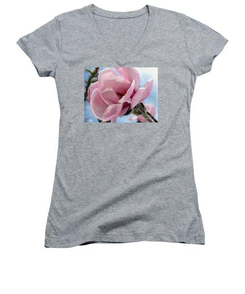 Magnolia In Spring Women's V-Neck