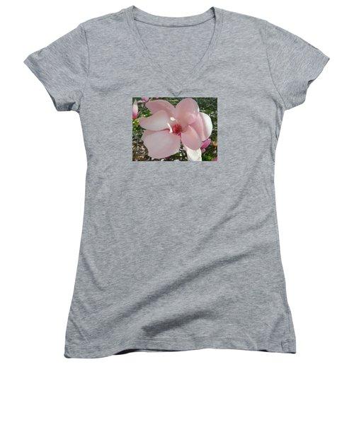 Magnolia Surprise Women's V-Neck T-Shirt