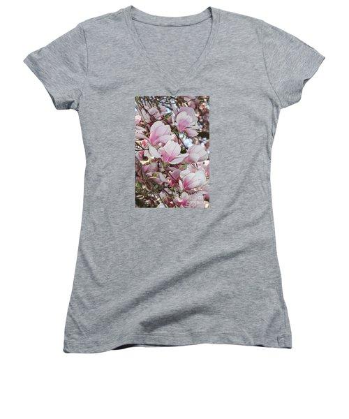 Magnolias Women's V-Neck T-Shirt