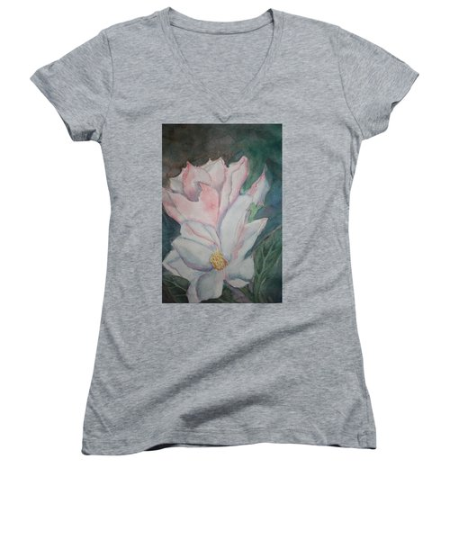 Magnolias Women's V-Neck (Athletic Fit)