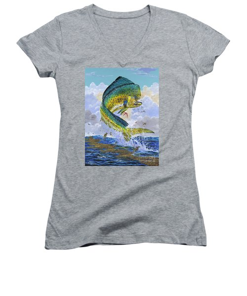 Mahi Hookup Off0020 Women's V-Neck T-Shirt (Junior Cut)