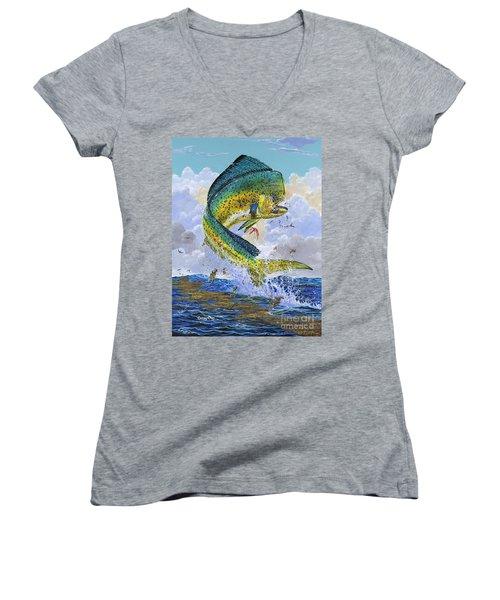 Mahi Hookup Off0020 Women's V-Neck T-Shirt
