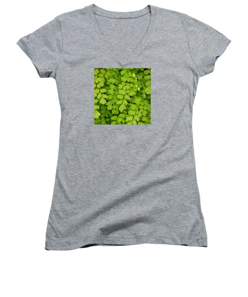 Maidenhair Fern Women's V-Neck T-Shirt