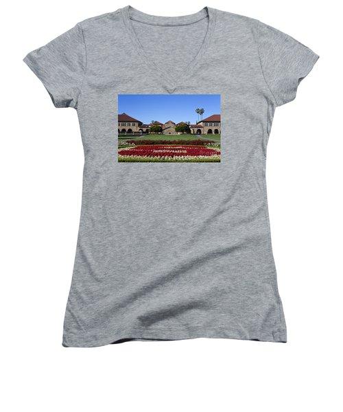 Main Quad Stanford California Women's V-Neck (Athletic Fit)