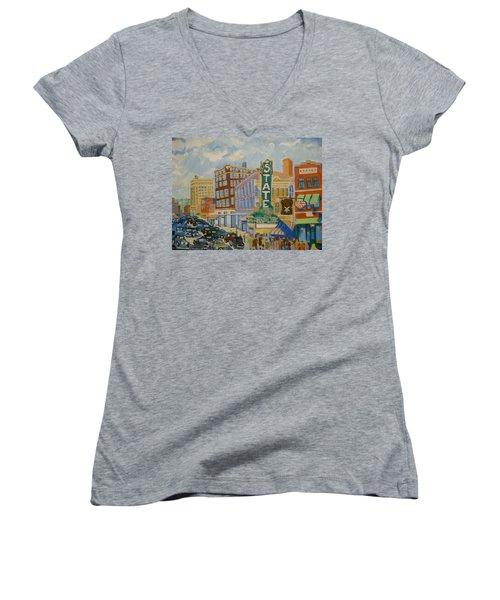 Main Street Women's V-Neck T-Shirt
