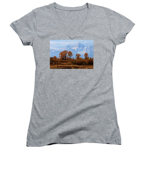 Majestic Backdrop Women's V-Neck
