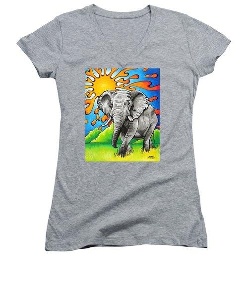 Majestic Elephant Women's V-Neck
