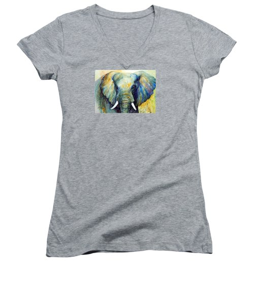 Majestic-iii Dappled Women's V-Neck T-Shirt