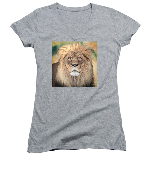 Majestic King Women's V-Neck T-Shirt (Junior Cut) by Everet Regal