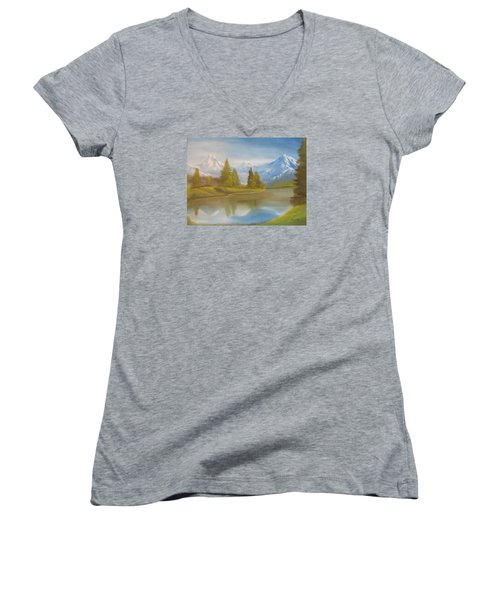 Majestic Mountains Women's V-Neck T-Shirt