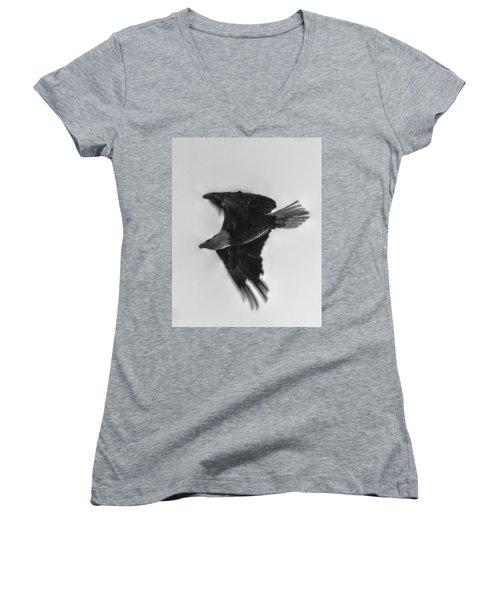 Majesty Women's V-Neck T-Shirt (Junior Cut) by Linda Unger