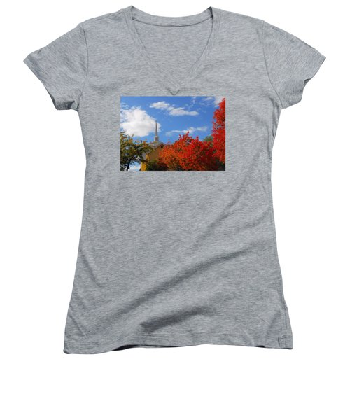 Women's V-Neck T-Shirt (Junior Cut) featuring the photograph Majesty by Lynn Bauer