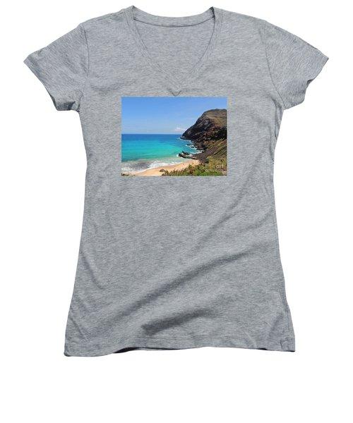 Makapu'u Beach  Women's V-Neck T-Shirt