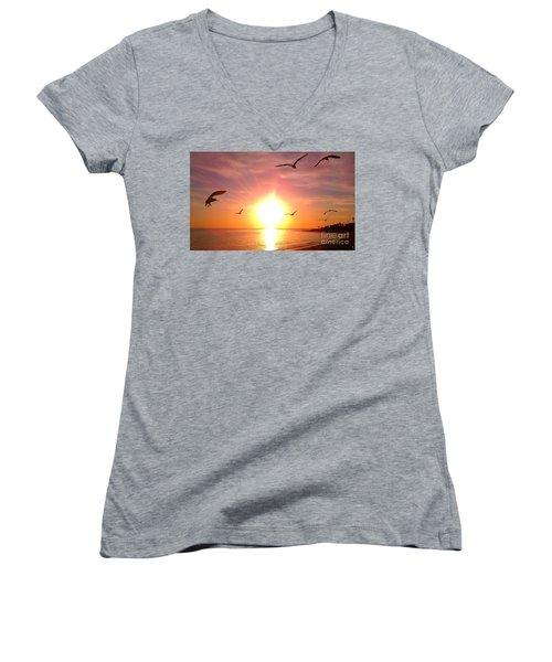 Malibu Paradise Women's V-Neck T-Shirt