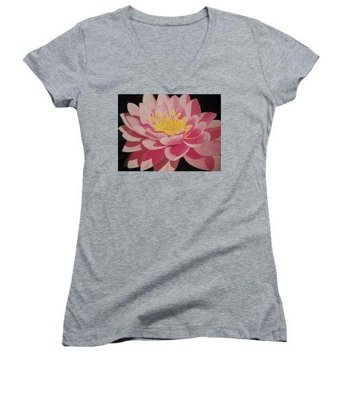 Mama's Lovely Lotus Women's V-Neck