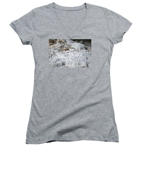 Mammoth Hotsprings 3 Women's V-Neck