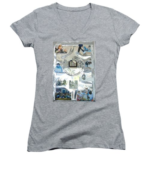 Man In The Mirror Women's V-Neck T-Shirt