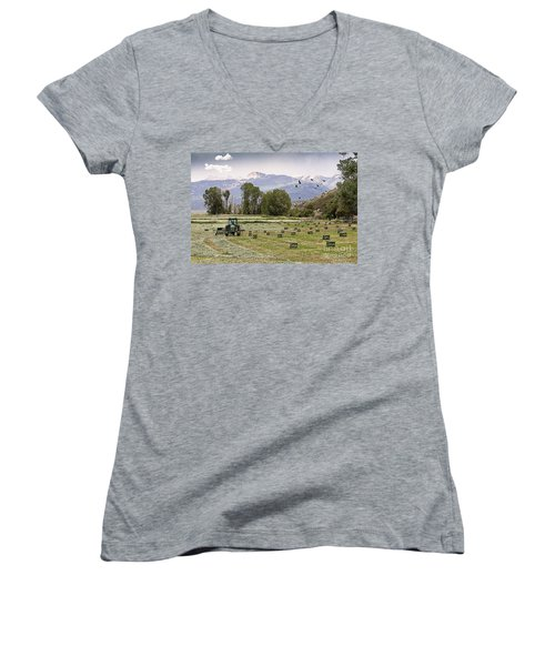 Mancos Colorado Landscape Women's V-Neck (Athletic Fit)