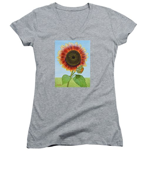 Mandy's Magnificent Sunflower Women's V-Neck (Athletic Fit)