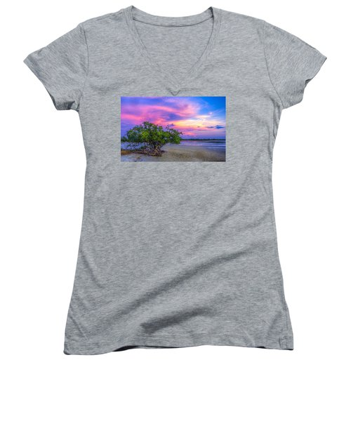 Mangrove By The Bay Women's V-Neck T-Shirt