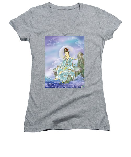 Many Treasures Avalokitesvara  Women's V-Neck (Athletic Fit)
