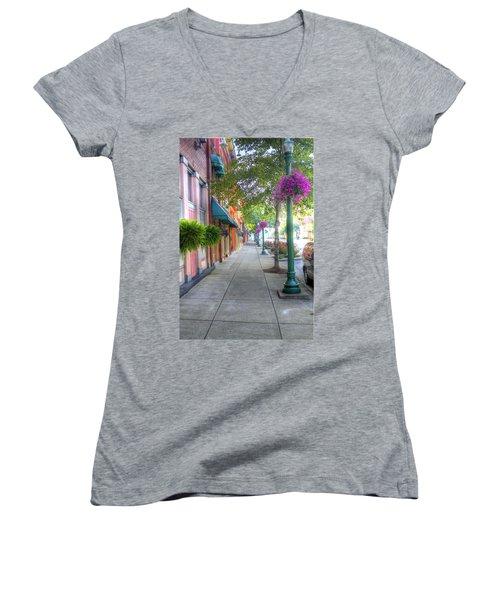 Marietta Sidewalk Women's V-Neck (Athletic Fit)