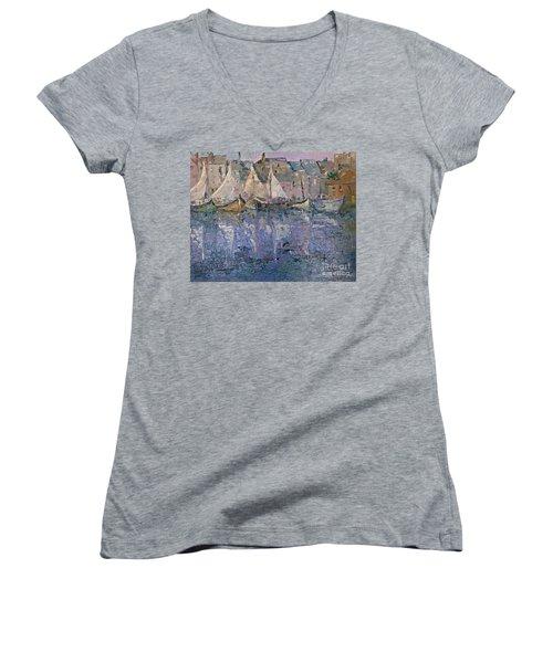 Marina Women's V-Neck T-Shirt (Junior Cut) by AmaS Art
