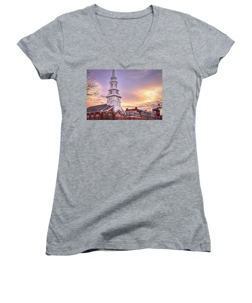 Market Square Rooftops Women's V-Neck T-Shirt