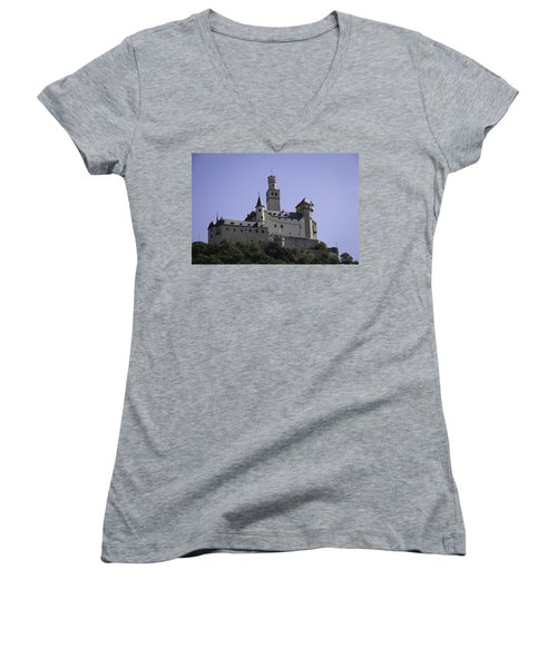 Marksburg Castle 18 Women's V-Neck