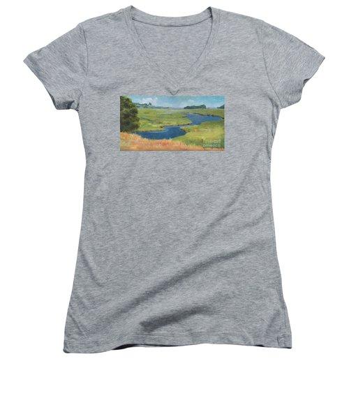 Marshes At High Tide Women's V-Neck T-Shirt