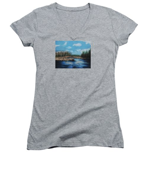 Marshland 1 Women's V-Neck T-Shirt