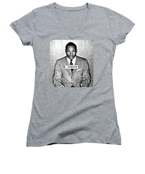 Martin Luther King Mugshot Women's V-Neck