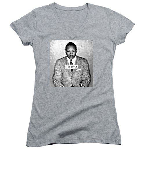 Martin Luther King Mugshot Women's V-Neck