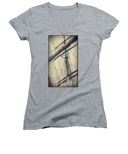 Mast And Rigging Postcard Women's V-Neck (Athletic Fit)