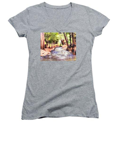 Mataranka Hot Springs Women's V-Neck T-Shirt